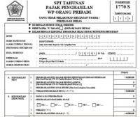 Pengertian Surat Pemberitahuan Tahunan (SPT)