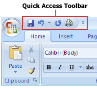 Pengertian Quick Acces Toolbar