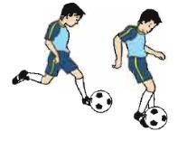 Teknik sepak bola menggunakan kaki bagian luar
