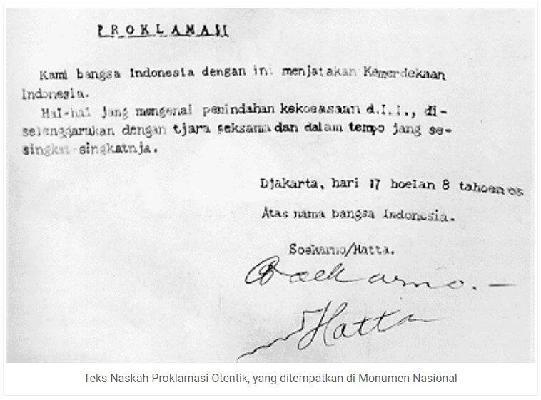 Naskah Proklamasi Otentik (Revisi)