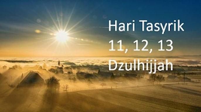 Pengertian Hari Tasyrik