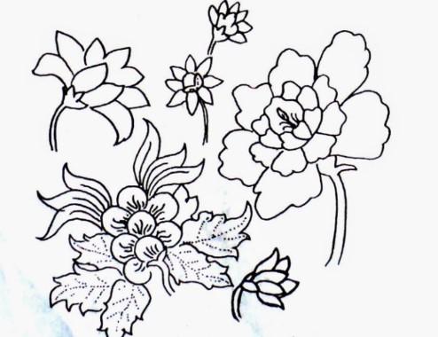 Contoh Ragam Hias Flora