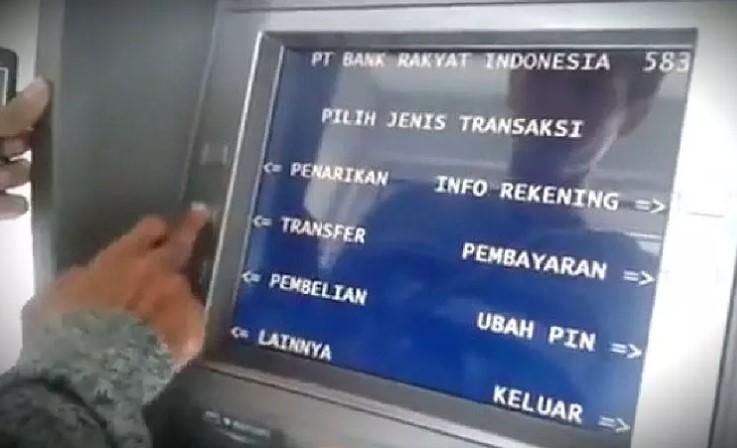 Pilih Jenis Transaksi ATM